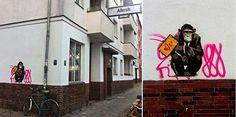 Street art in Berlin, Germany by Alessi-B #berlin #alessib #streetart #urbanart #graffitiart #art #wallmurals