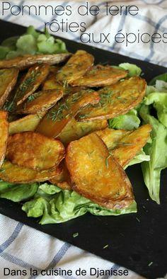 Dans la cuisine végétalienne de Djanisse : Pommes de terre rôties aux épices