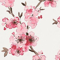 Carousel Designs Pink Cherry Blossom Fabric by the Yard -...