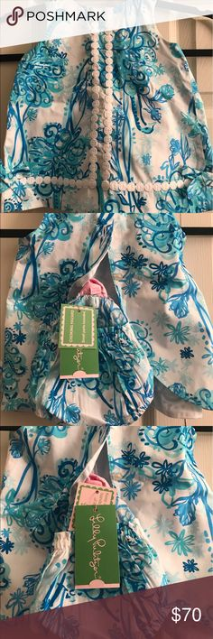 Baby Lilly Pulitzer Set Cutie Pie Two Piece Lilly Pulitzer Baby Set with the little Panties size 6-12 months Lilly Pulitzer Matching Sets