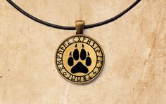 Hey, I found this really awesome Etsy listing at https://www.etsy.com/listing/236517046/wolf-paw-pendant-occult-rune-necklace