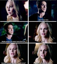 Just go to New Orleans.You'll be happy there, Caroline. Tyler And Caroline, Stefan And Caroline, Caroline Forbes, The Vampire Diaries 3, Vampire Diaries The Originals, Tvd Quotes, Bonnie And Enzo, Popular Book Series, Vampier Diaries