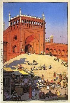 Jami Masjid, Delhi by Hiroshi Yoshida, 1931