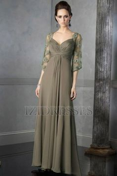 ac73b22d2dba2 Mother of the groom dress  Gorgeous Empire Sweetheart Floor-Length Chiffon  Mother of the Bride Dresses