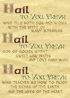 Prayer to Freyr