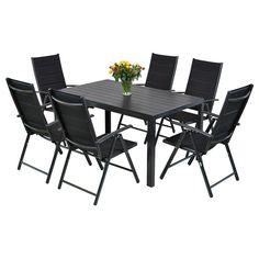 Zestaw mebli ogrodowych LAURA jest bardzo eleganckim i wytrzymałym kompletem mebli aluminiowych. Zestaw składa się ze stołu oraz 6 krzeseł. Meble pomalowano wysokiej jakości farbą proszkową. Ich konstrukcja jest bardzo solidna i odporna na warunki atmosferyczne. Blat stołu wykonany został z wodoodpornej deski kompozytowej WPC. Kształt krzeseł pozwala natomiast na ich składanie, co znacznie wpływa na oszczędność miejsca w czasie gdy komplet nie jest używany. Dodatkowo, oparcia krzeseł są… Outdoor Furniture Sets, Outdoor Decor, Ibiza, Table, Home Decor, Decoration Home, Room Decor, Tables, Home Interior Design