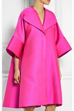 The Terrier and Lobster: The Daily Frock: Antonio Berardi Oversized Hot Pink Scuba-Satin Coat