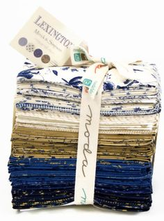 Lexington---a new line by Minick & Simpson for Moda Fabrics. Fat eighth bundle contains 40 fat eighths, which are 9 X 22. A great collection
