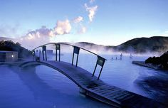 Blue Lagoon Geothermal Spa in Iceland - amazing!! You could enter the water from inside and go under the wall to the outside.