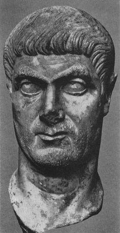 Голова мужчины (м. б., Константина). Мрамор. Ок. 320 г. Копенгаген, Новая Карлсбергская глиптотека.
