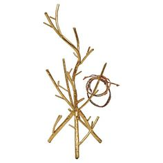 Metal Twig Jewelry Holder - Gold : Target