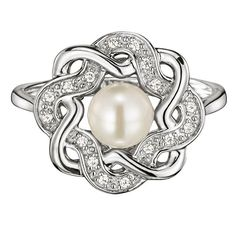 Sterling Silver Classic Genuine Freshwater Pearl Ring   AVON
