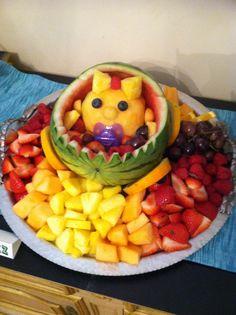 Baby shower fruit salad cute DIY