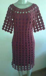 MARILAC ARTESANATOS: Vestido Marsala