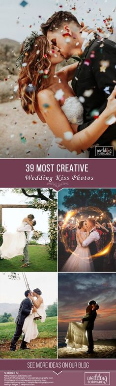 Every couple wants to have the most beautiful, most romantic and most creative wedding kiss photos in their wedding album. We went through hundreds of wedding photos from amazing wedding photographers and picked 10 we think capture the wedding kiss in the most creative way. Hope these photos inspire you.