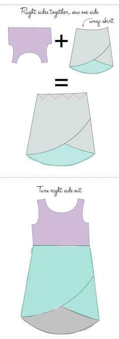 sew an easy wrap tunic #tankdress