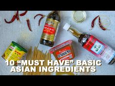 10 BASIC Ingredients Every Kitchen MUST Have for Asian Cooking #Stayhome Cook #Withme - YouTube Banh Mi Recipe, Bulgogi Recipe, Recipes With Soy Sauce, Chili Sauce Recipe, Cooking Wine, Asian Cooking, Silken Tofu Soup Recipe, Korean Corn Cheese Recipe, Beef Recipe Video