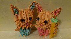 3D Origami Bunny Couple