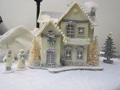 Glitter CHIC Christmas Village PUTZ House & Figurines