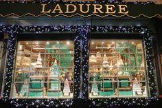 LaDuree Christmas Window - Paris