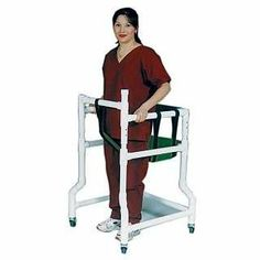 PVC Walker with Padded Seat FOREST GREEN - SOLID VINYL by Mjm International Corp. $229.00. Seat comes with solid support base to prevent sagging.. A perfect solution for ambulatory patients in confined spaces.. Padded backrest for additional support and comfort.. Adjustable safety belt.. The durable PVC Walker with Padded Seat provides superior mobility assistance and also offers patients with a comfortable seat when they are feeling tired and weak. Four rotating caste...