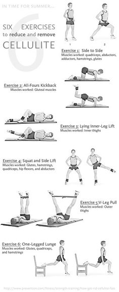Exercises to reduce cellulite ~ Love this! http://actionfatbuster.com
