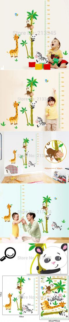 [Saturday Monopoly] new children height sticker for nursery kid bedroom wall decor decals sticker removable mural quality pvc