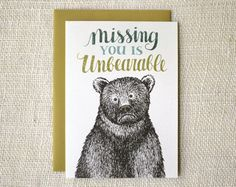 unbearable card | Wit & Whistle