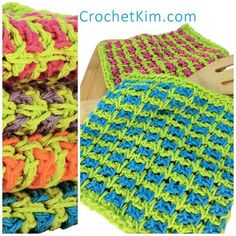 CrochetKim Free Crochet Pattern | Wishy Washies Washcloths @crochetkim