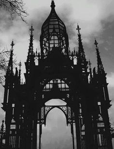 scary photography pretty death Black and White depression Cool creepy pain hurt horror dark architecture house castle silhouette evil haunted Macabre victorian Edgy Gate grim Palace cathedral gruesome Gothic Art, Victorian Gothic, Gothic Images, Gothic Horror, Dark Gothic, Victorian Houses, Duomo Milano, Looks Dark, Gothic Architecture