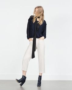 ZARA - WOMAN - BLOUSE WITH KIMONO SLEEVES