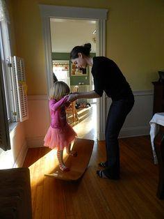 Another great photo of a Waldorf Wooden Rocker Board from www. bellalunatoys.com.
