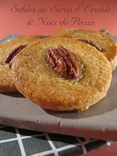 Maple Syrup & Pecan Shortbread Shortcakes (Martha Stewart # - ideas ideas for party trends 2020 Desserts With Biscuits, No Cook Desserts, Cookie Desserts, Delicious Desserts, Easy No Bake Cookies, Easy Cookie Recipes, Healthy Cookies, Martha Stewart, Simply Recipes
