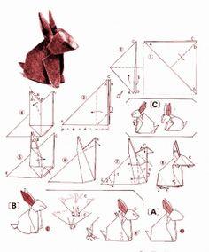 Rabbit origami diagram 2