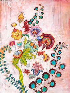 Hawaii ~ artist Anahata Katkin   #art #journal #floral