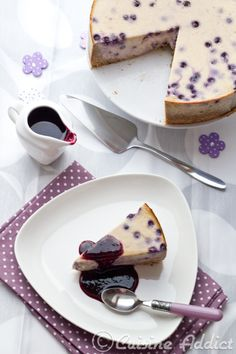 Cheesecake with Banana and Blueberry