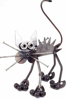 поделки для дачи фигурка кота