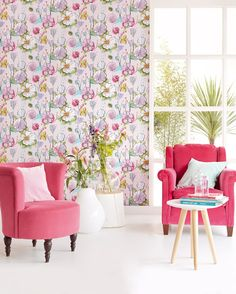 Bloom Collection By Eijffinger 340031 Brush Stroke Modern Floral Design Wallpaprshopau