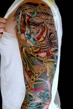 Sailor tattoo with style