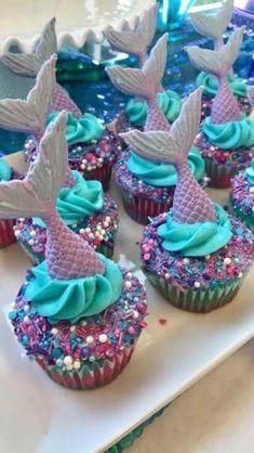 Ideas baby shower girl cupcakes mermaid parties for 2019 Baby Shower Cupcakes For Girls, Girl Cupcakes, Fun Cupcakes, Cupcake Cakes, Mermaid Cupcake Cake, Little Mermaid Cupcakes, Diy Mermaid Birthday Party, Birthday Cake Girls, Birthday Cupcakes