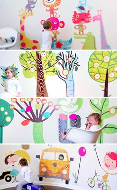 Giant reusable wall decals from Pop & Lolli.
