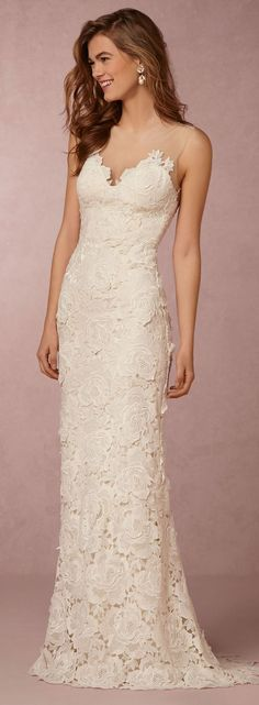 Lace wedding dress #weddingdress
