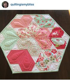 Your Photos: Sweetheart Table Topper | Jaybird Quilts