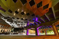 Toronto's Underpass Park | Flickr - Photo Sharing! Landscape Plaza, Landscape And Urbanism, Modern Landscape Design, Modern Landscaping, Under Bridge, Sky Bridge, Parasitic Architecture, Plaza Design, Urban Architecture