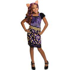 Rubies Monster High Scaris Clawdeen Child Dress-Up Costume, Girl's, Size: Medium, Leopard Dress Up Costumes, Cosplay Costumes, Festa Monster High, Costume Makeup, Halloween Costumes For Kids, Gender Female, Sequin Skirt, Girly, Dresses