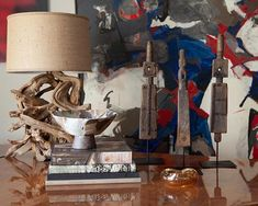 Come visit us this weekend open both Saturday and Sunday from Pictured: Wagon spoke wood sculptures with metal base and an assortment of books from our curated collection. Wood Sculpture, Sculptures, Happy Friday, Sunday, Base, Metal, Books, Shop, Painting
