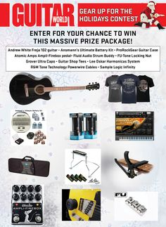 Gear Up for the Holidays: Win a Huge Holiday Prize Package from Guitar World