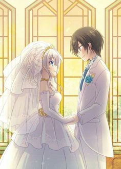 ♡ On Pinterest @ kitkatlovekesha ♡ ♡ Pin: Anime ~ Charlotte ~ Nao x Yuu Wedding ♡
