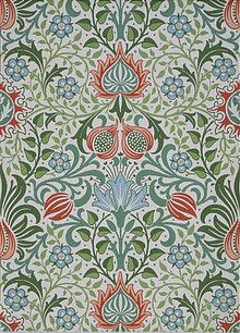 William Morris Persian Design Counted Cross Stitch Chart by Orenco Originals. William Morris: This design was created from the works of the artist William Morris. William Morris's Persian Flower Design from Tapestry In The Arts and Crafts Style. William Morris Wallpaper, William Morris Art, Morris Wallpapers, Floral Wallpapers, William Morris Patterns, Textile Patterns, Print Patterns, Textile Design, Fabric Design