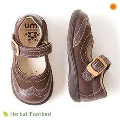 Buy.com - Umi Mocha Brown Velcro Etude Mary Jane Toddler Girls Shoes 8